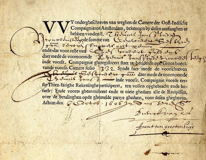 Aktie der Niederländischen Ostindien-Kompanie (1606)