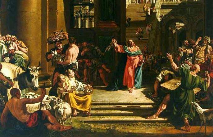 Geldgeschichte - Jesus reinigt den Tempel