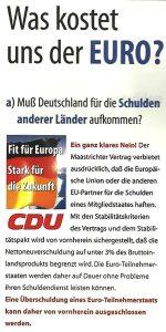 Wahlplakat der CDU