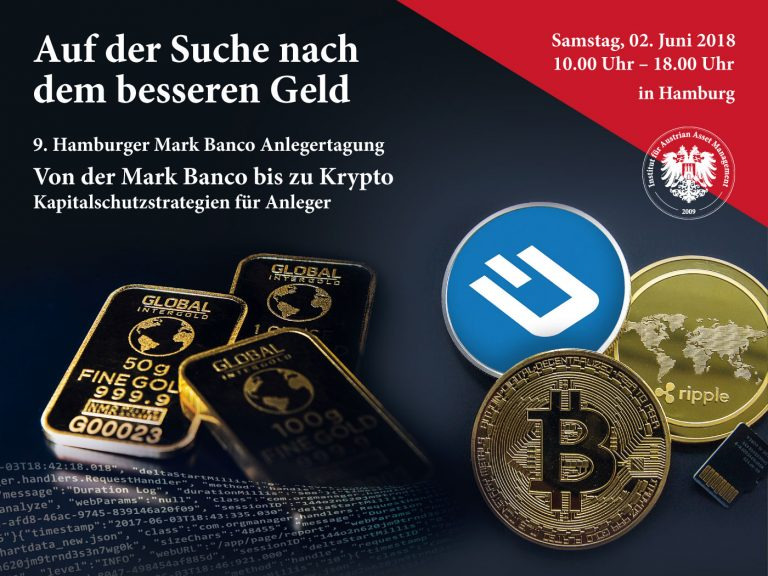 9. Hamburger Mark Banco Anlegertagung - Plakat