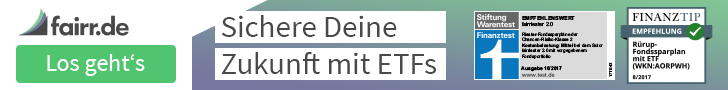 Anzeige - Banner von fairr.de