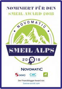 Erste Nominierung - Banner Smeil Alps 2018