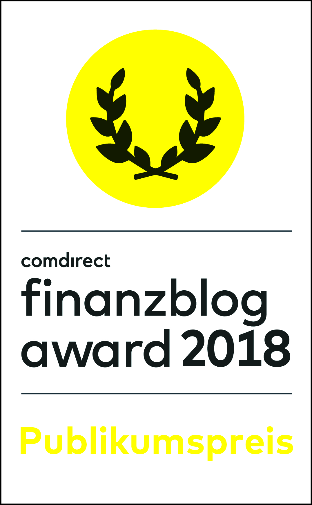 Warum Bares? - Logo comdirect finanzblog award 2018