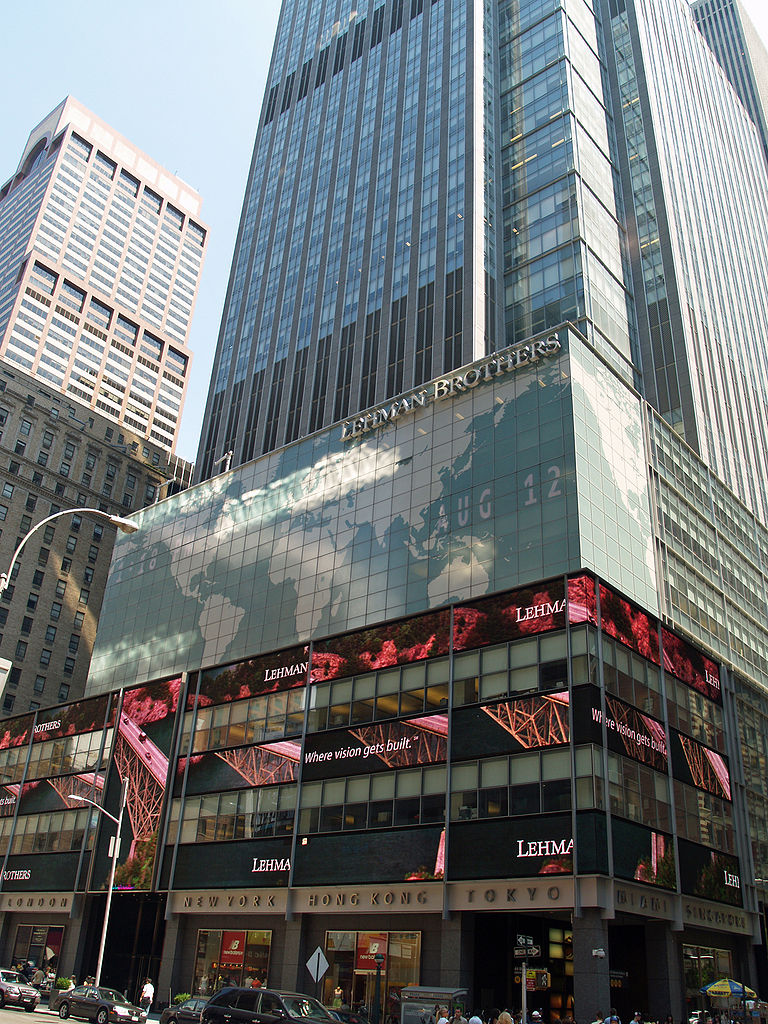 Filiale von Lehman Brothers am Times Square