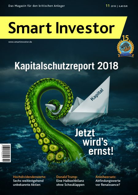 Smart Investor - Titelbild der Ausgabe 11/2018
