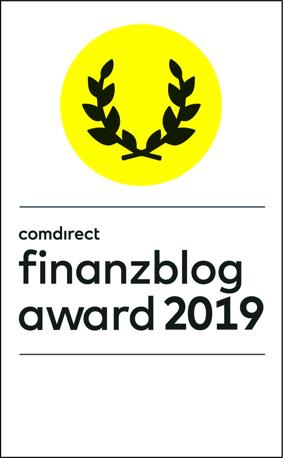 Logo des comdirect finanzblog awards 2019