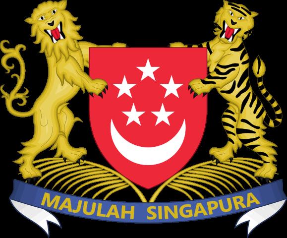 Wappen Singapurs