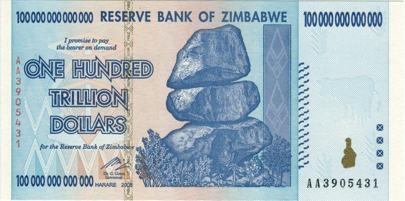 100 Billionen Simbabwe-Dollar