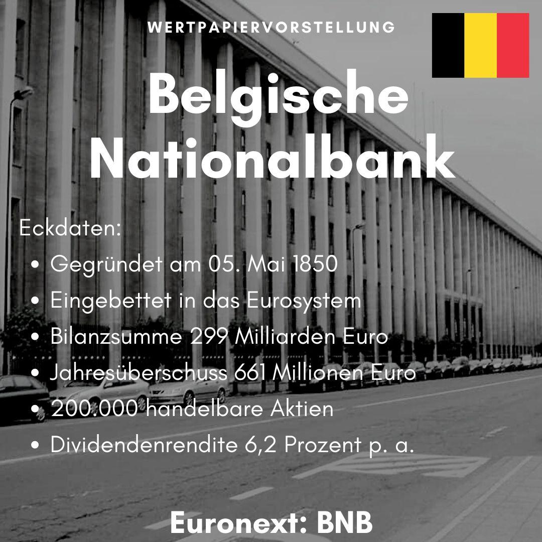 Eckdaten der Belgischen Zentralbank